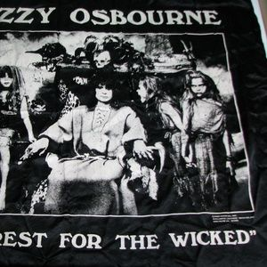 Monowise Wall Art - Vtg Ozzy Osbourne No Rest For The Wicked Tapestry